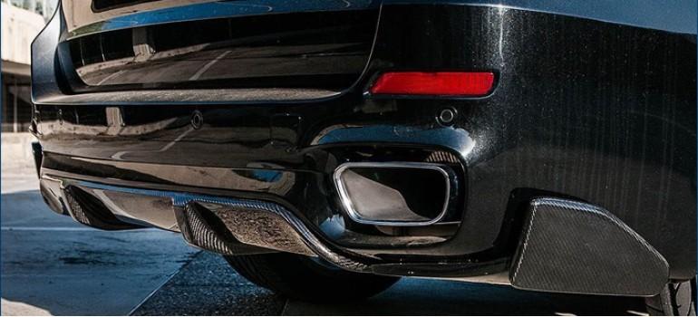 Карбоновый тюнинг заднего бампера в стиле М Перформанс (M Performance) для БМВ (BMW) X5 F15