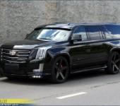 Козырек на лобовое стекло с эффектом визуального занижения на Cadillac Escalade
