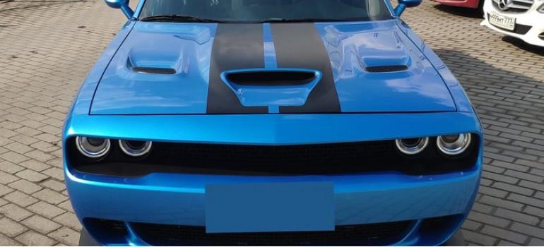 Капот Hellcat с жабрами на Додж Челленджер (Dodge Challenger) 2014 модельного года
