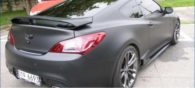 Cпойлер (антикрыло) GTR на багажник Huyndai Genesis