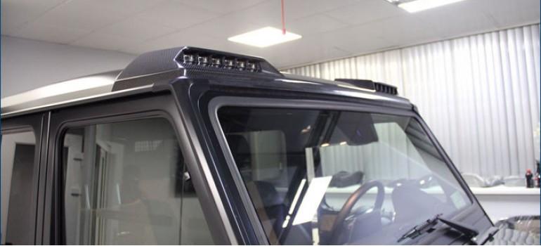 Накладка со светодиодными огнями на крышу Мерседеса (Mercedes) G