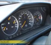 Серебристые (матовые) кольца в приборную панель Мерседеса (Mercedes Benz) W124