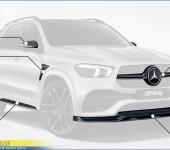 Аэродинамический обвес из карбона Larte на Мерседес (Mercedes) GLE W167