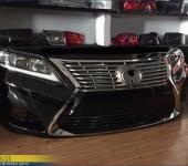 Передний бампер с фарами на Тойоту Камри (Toyota Camry) V40 в стиле Лексуса (Lexus)