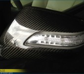 Перетяжка 100% настоящим карбоном зеркал и решетки радиатора на Acura MDX