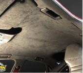 Перетяжка потолка в алькантару на Ауди (Audi) RS4