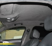Перетяжка потолка в алькантару ( Alcantara ) на Ауди ( Audi ) А6