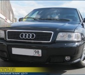 Установка переднего тюнинг-бампера на Ауди (Audi) A8