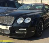 Покраска в серебристый цвет сеточек в обвесе Mansory на Bentley GT Continental