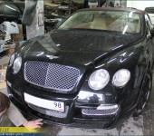 Ремонт карбонового спойлера обвеса Mansory на Bentley GT Continental