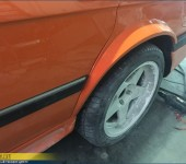 Расширение (раскатка) задних арок на БМВ (BMW) 535 E28