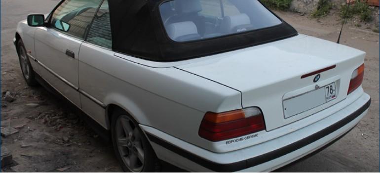 Ремонт кабриолета БМВ ( BMW ) E36 - замена мягкого кабриолетного стекла