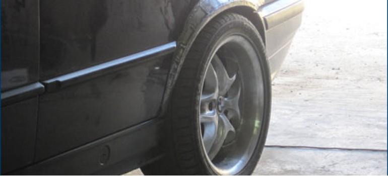 Раскатка арок на BMW E36
