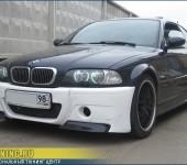 Установка переднего бампера CSL на BMW E46 Coupe