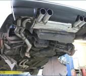 Установка глушителя Суперспринт и усиление кузова БМВ ( BMW ) M3 E46