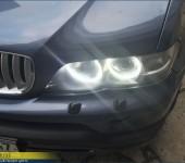 Установка сверхъярких Ангельских Глазок на BMW X5 E53
