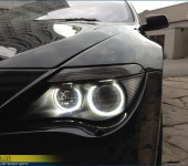 Установка сверхъярких светодиодных Ангельских Глазок в фары и полировка кузова БМВ ( BMW ) E63