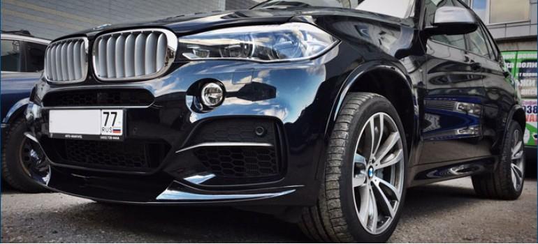 Установка и покраска обвеса M-Performance на БМВ (BMW) X5 F15