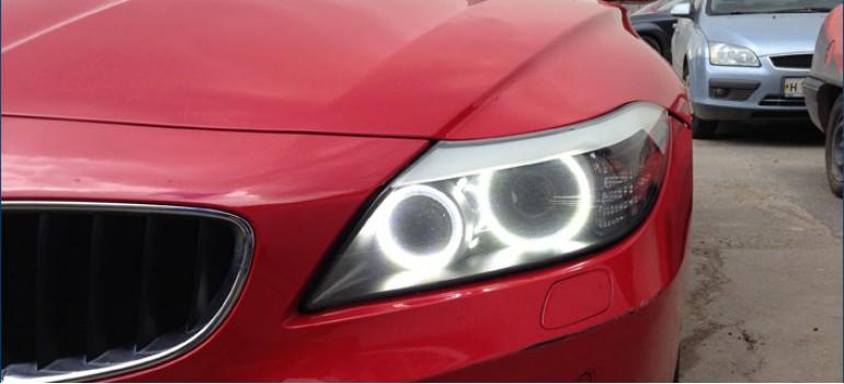 Установка Ангельских Глазок ( Angel Eyes ) SMD в фары BMW Z4