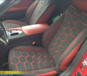 Продолжение тюнинга БМВ ( BMW ) Z4 - дизайнерская перетяжка сидений салона в алькантару и кожу