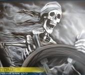 Аэрография на Cadillac SRX - Старый Пират