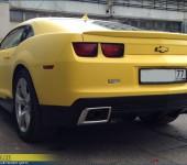 Покраска в желтый матовый цвет белой Шевроле Камаро ( Chevrolet Camaro )