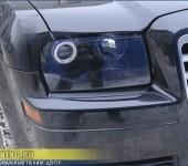 Установка би-ксеноновых линз G3 Super, покраска внутренностей фар и тонировка задних фонарей на Chrysler 300C