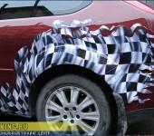 "Ford Focus 2 - аэрография ""Клечатый флаг"""