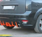 Установка обвеса (накладки на задний бампер) на Форд Фокус (Ford Focus)