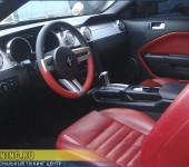 Перетяжка руля в натуральную кожу на Ford Mustang GT