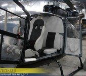 Перетяжка салона частного вертолета