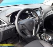 Перетяжка руля в автомобильную кожу на Hyundai Santa Fe