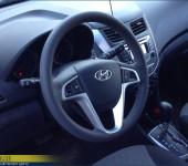 Перетяжка руля в натуральную автомобильную кожу на Hyundai Solaris