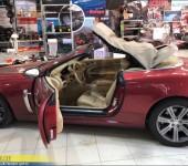Покраска кабриолетного тента на Ягуаре (Jaguar) XKR2