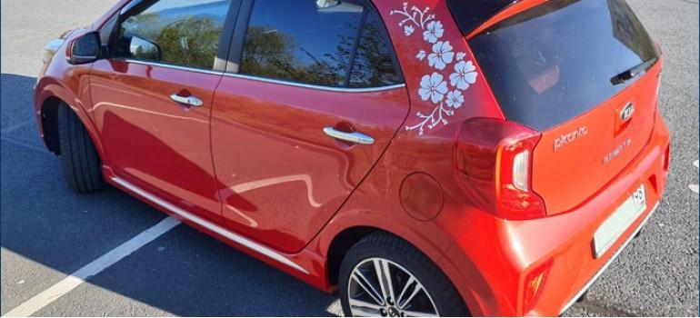 Установка и покраска спойлера на багажную дверь на KIA Picanto (КИА Пиканто)