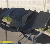 Перетяжка настоящим 100% карбоном диффузора заднего бампера на Ламборгини Авентадор (Lamborghini Aventador)