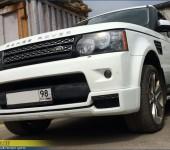 Установка и покраска накладки Arden AR5 на передний бампер на Range Rover Sport