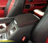 Перетяжка в алькантару ( Alcantara ) подлокотника в Рендж Ровере ( Range Rover )