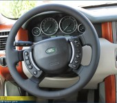 Перетяжка руля в натуральную автомобильную кожу Наппа ( Nappa ) на Рейндж Ровер Вог ( Range Rover Voque )