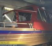 Электрическое складывание крыши на лодке и перетяжка салона лодки