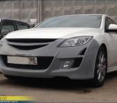 Установка переднего тюнинг бампера Auto EXE на Мазду (Mazda) 6