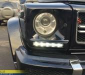 Установка обвеса в стиле AMG G63 на бронированный Мерседес (Mercedes) G500