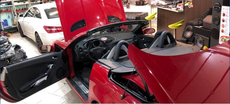 Небольшой ремонт кабриолета Мерседеса ( Mercedes ) SLK 171