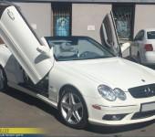 Установка ламбодверей на Мерседес (Mercedes Benz) CLK500 W209 Cabrio