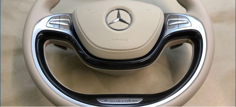 Сложная перетяжка руля на Мерседесе (Mercedes) W222