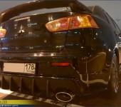 Установка и окраска накладки на задний бампер Мицубиси Ланцер (Mitsubishi Lancer) X
