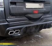 Установка накладки на задний бампер Мицубиси Паджеро (Mitsubishi Pajero) 4