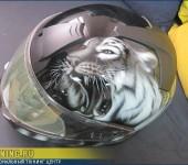 Разрисовка ( аэрография ) шлема BMW System 6