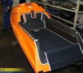 Покраска водного мотоцикла ( аквабайка ) в ярко-оранжевый цвет