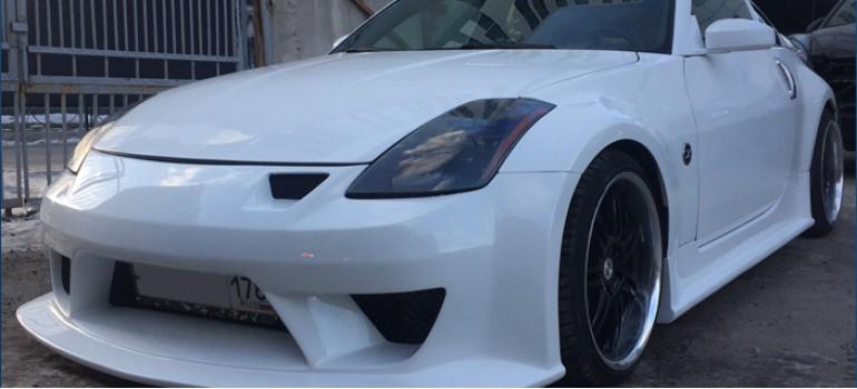 Установка и покраска обвеса на Ниссан (Nissan) 350Z